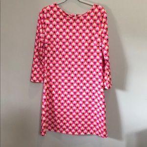Julie Brown Hot Pink Long Sleeve Dress